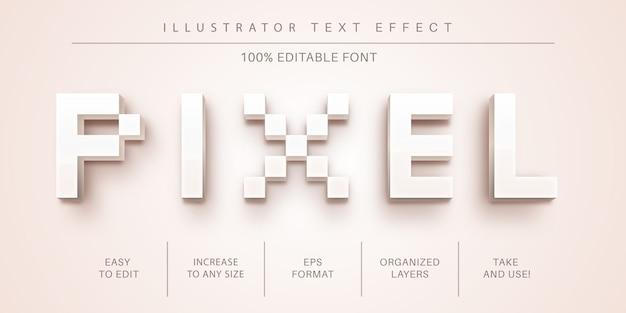 Estilo de texto de píxeles, efecto de fuente