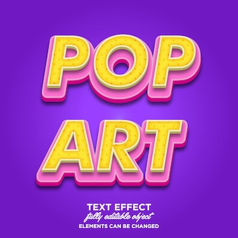 Estilo de texto pop art 3d
