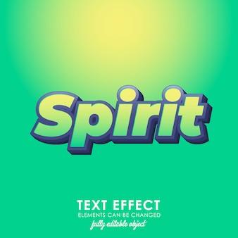 Estilo de texto premium verde espíritu
