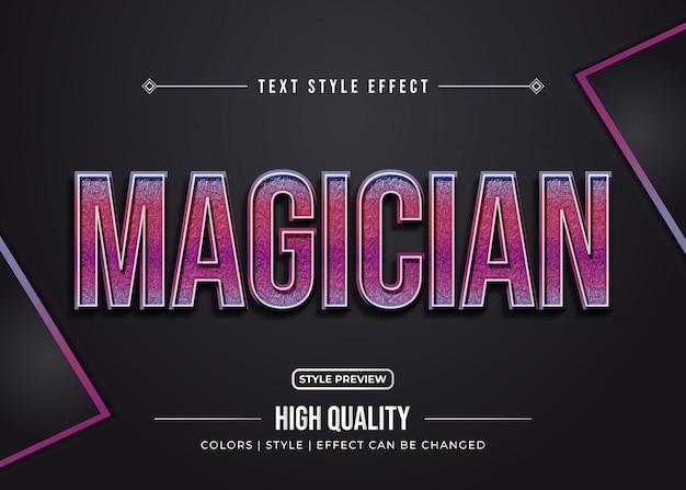 Estilo de texto realista en 3d con degradado colorido y efecto en relieve