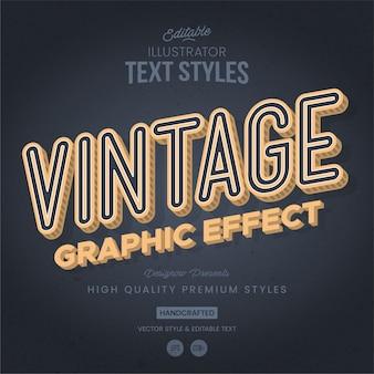 Estilo de texto retro y vintage