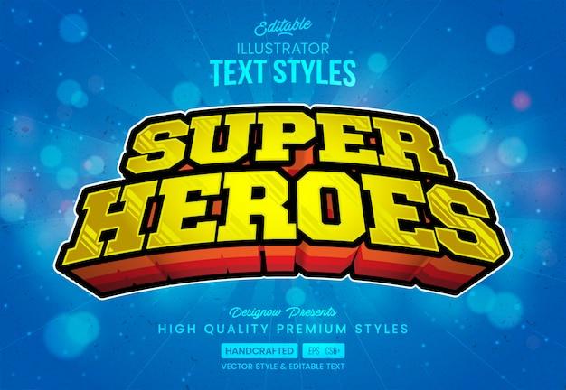 Estilo de texto de superhéroes