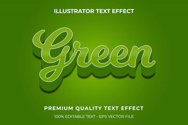 Estilo de texto verde 3d premium