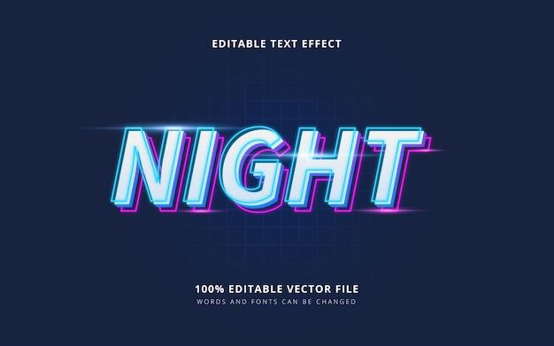 Estilo de texto vibrante de neón nocturno