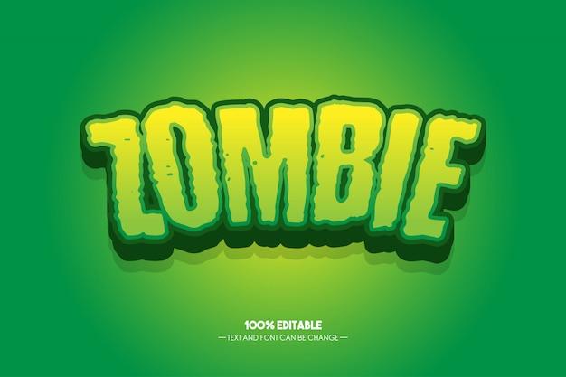 Estilo de texto zombie 3d