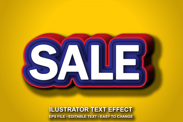 Estilo de venta de efecto de texto editable