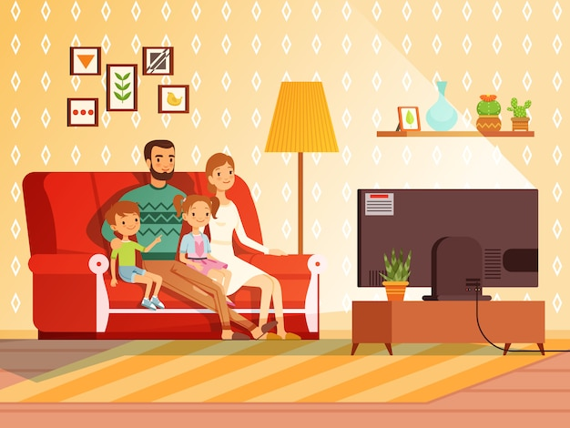Estilo de vida de la familia moderna.