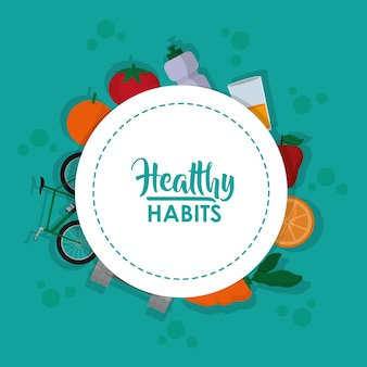 Estilo de vida saludable deporte y comida
