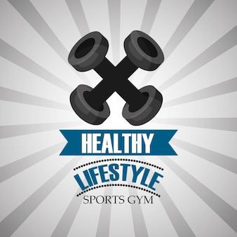 Estilo de vida saludable deportes gimnasio pesas barra