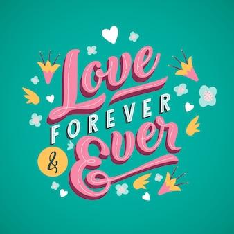 Estilo vintage para diseño de letras de amor