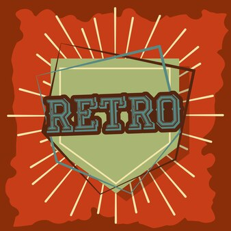 Estilo vintage retro emblema divisa texto grunge