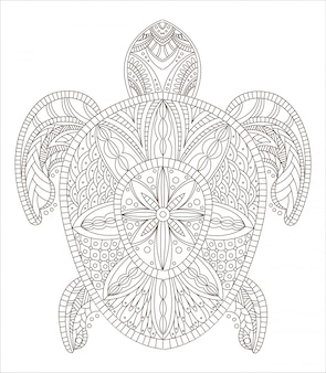 Estilo zentangle tortuga