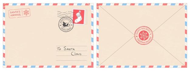 Estimado sobre de correo de santa claus