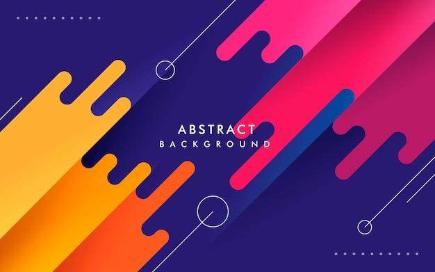 Estiramiento diagonal de fondo colorido geométrico abstracto