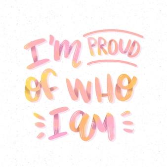 Estoy orgulloso de las letras de amor propio