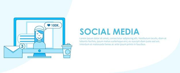Estrategia de banner en redes sociales.