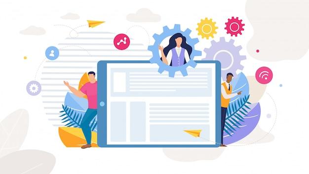 Estrategia de contenido desarrollo de marketing dibujos animados
