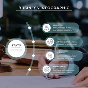 Estrategia corporativa de infografía empresarial