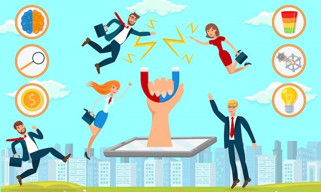 Estrategia de desarrollo empresarial. ilustracion vectorial