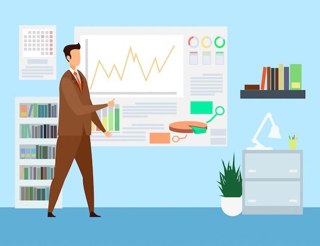 Estrategia empresarial, ilustración de presentación comercial