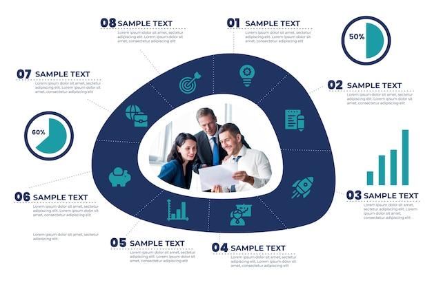 Estrategia de enfoque de infografía empresarial