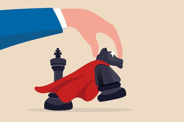Estrategia ganadora o movimiento de victoria en la competencia empresarial