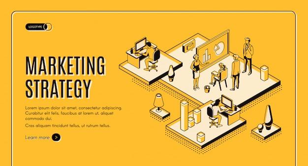 Estrategia de marketing, empresa analítica financiera.