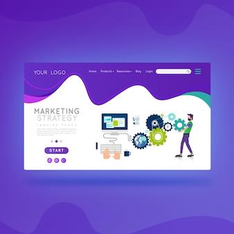 Estrategia de marketing de la página de destino.