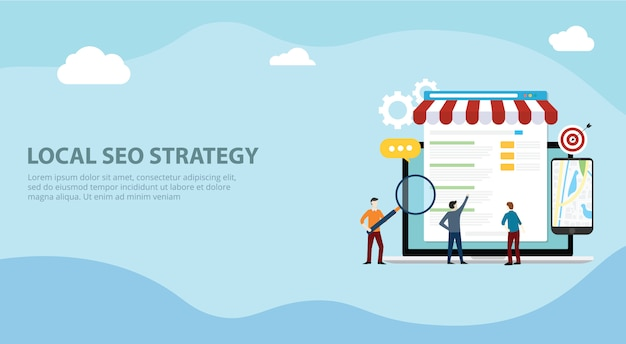 Estrategia de mercado local seo Vector Premium