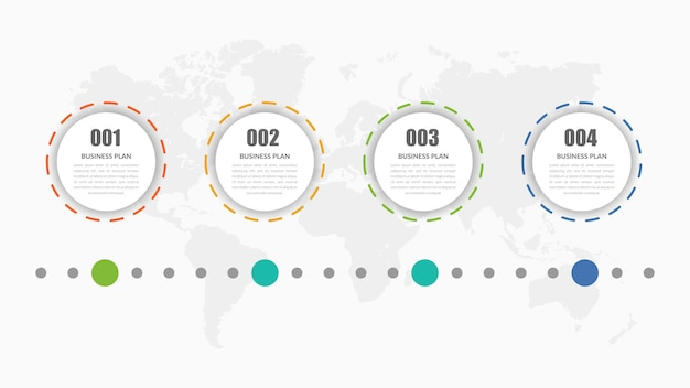 Estrategia de negocios de elemento infográfico de cuatro puntos