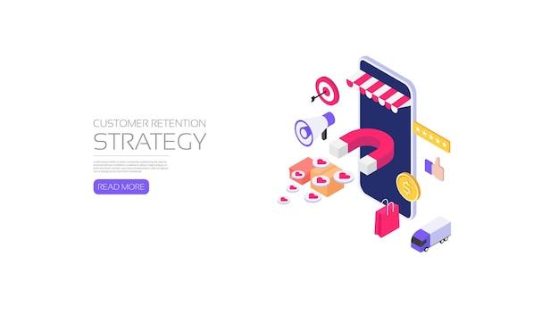 Estrategia de retención de clientes de la tienda online, marketing online