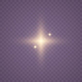 Estrella brillante transparente
