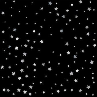 Estrella de brillo plateado. confeti estrellado