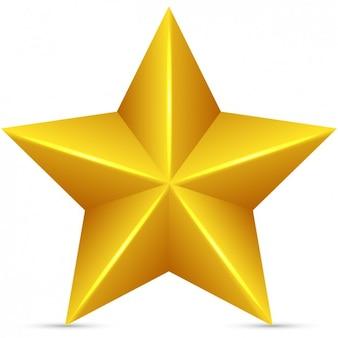 Estrella dorada en 3d