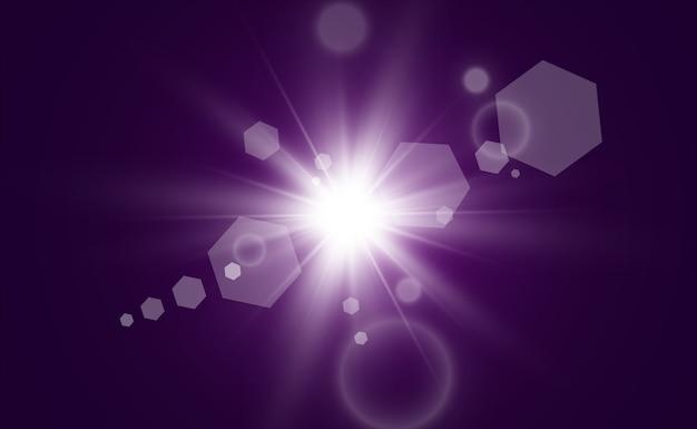 Estrella dorada brillante. efecto de luz estrella brillante. hermosa luz para ilustrar.