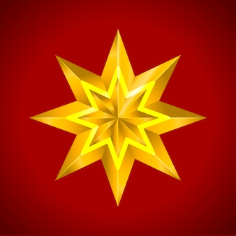 Estrella dorada brillante