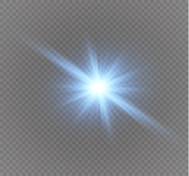 Estrella en una ilustración de fondo transparente