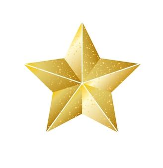 Estrella de navidad dorada brillante brillante