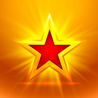 Estrella de oro sobre fondo dorado. ilustración vectorial