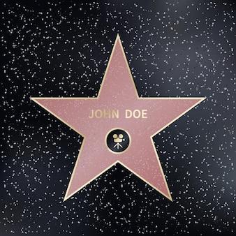 Estrella del paseo de la fama de hollywood