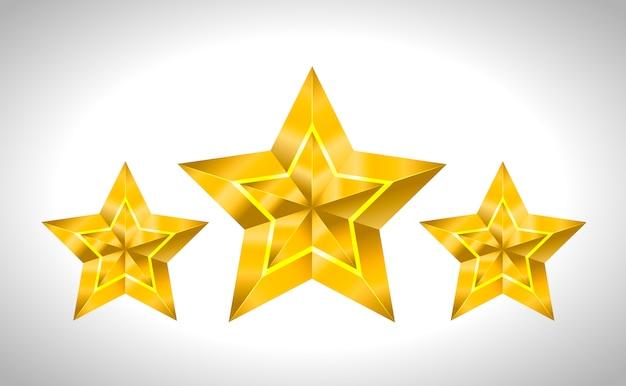 Estrella realista dorada 3d