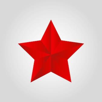 Estrella roja realista - elemento de navidad para celebración
