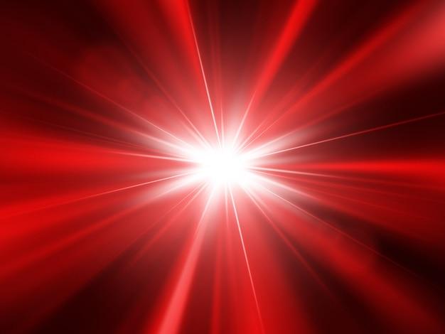 Estrella, sol con destello de lente y rayos. fondo abstracto. efecto de luz brillante.