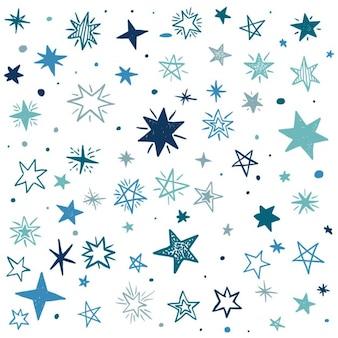 Estrellas azules sobre un fondo blanco