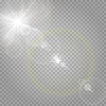 Estrellas brillantes y resplandor resplandeciente.
