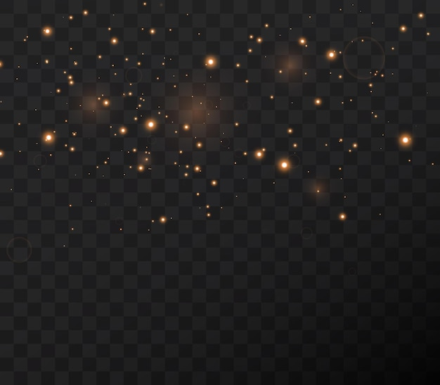 Las estrellas brillantes vuelan a través de la noche