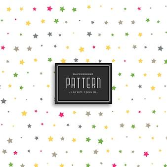 Estrellas coloridas vector patrón de fondo