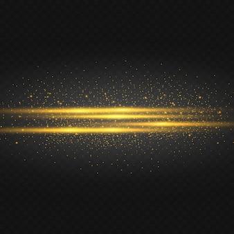 Las estrellas doradas brillan sobre un fondo negro.
