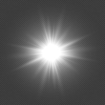 Estrellas doradas brillantes efecto de luz estrella brillante estrella navideña la luz dorada brillante explota