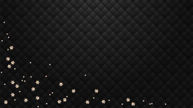 Estrellas doradas sobre un fondo negro